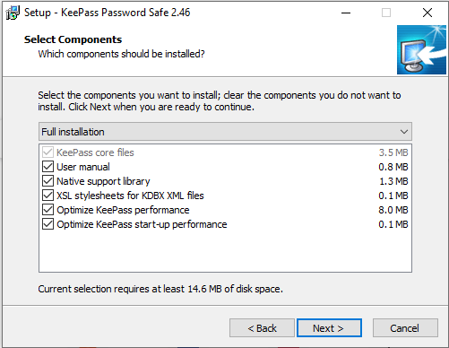 KeePass Anleitung Komponenten