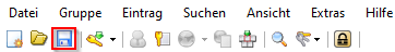 KeePass Anleitung Speichern